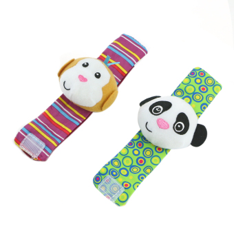 Hot Cute Soft Toy Animal Baby Infant Kids Hand Wrist Bells Foot Sock Rattles New (Intl) - picture 2
