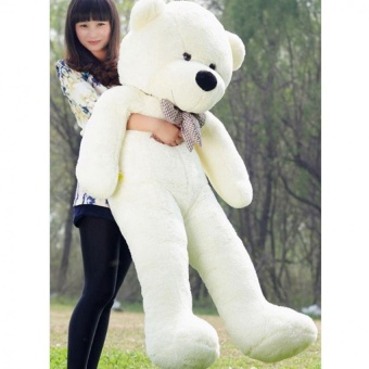 Hot Sale 60cm Fluffy toys Plush Cloth Doll Toy Plush StuffedAnimals Giant Teddy Bear Toys (White) Hign Quality - intl