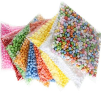 Hot Wholelsale Assorted Colors Polystyrene Styrofoam Filler Foam Beads Balls Crafts DIA 2.5-3.5mm/7-9mm-White DIA7-9mm - intl Price Philippines