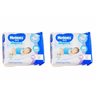 Huggies Dry Diapers NB 20's Pieces 021287 2's