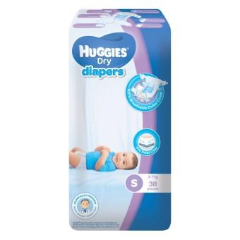 Huggies Dry Diapers Small - (38pcs) - 2