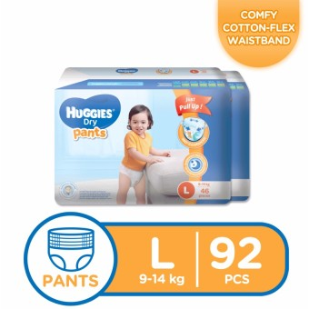 Huggies Dry Pants Large - 46pcs x 2 packs (92 pcs)