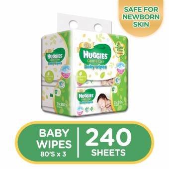 Huggies Gentle Care Baby Wipes - 80 sheets x 3 packs (240 pcs)