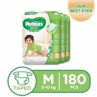 Huggies Ultra Diapers Medium - 60 pcs x 3 packs (180 pcs) Price Philippines