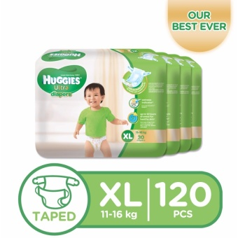 Huggies Ultra Diapers XL - 30 pcs x 4 packs (120 pcs)