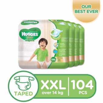 Huggies Ultra Diapers XXL - 26 pcs x 4 packs (104 pcs) Price Philippines