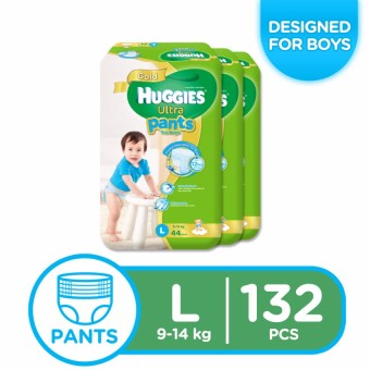 Huggies Ultra Pants for Boys Large - 44 pcs x 3 packs (132)