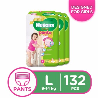 Huggies Ultra Pants for Girls Large - 44 pcs x 3 packs (132 pcs) Price Philippines