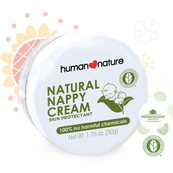 Human Nature Natural Nappy Cream Skin Protectant 50g Diaper Cream for Babies