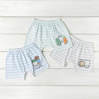 Hush Hush Baby Boys 3-piece Foods Shorts Set (Multi-colored) Price Philippines