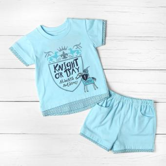 Hush Hush Baby Boys Knight or Day Top and Shorts Set (Blue)