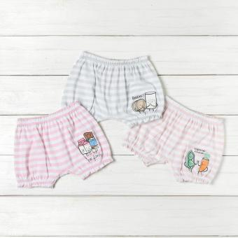 Hush Hush Baby Girls 3-piece Foods Shorts Set (Multi-colored)