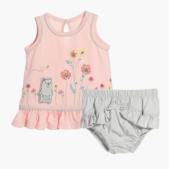 Hush Hush Girls Bear's Flowers Top and Panty Set (Pink) Price Philippines
