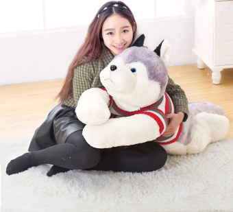 Husky dog skin plush toys, teddy bears hull. Large animal coatfactory wholesale - intl