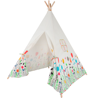 Flowers Printed Kids Play Tent Cotton Canvas Baby Tipi Tent Play House for Baby Room Price Philippines