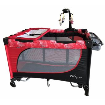 Baby 1st (Tobby Co) Playpen with Rocking System (510DCR) (Red) Price Philippines