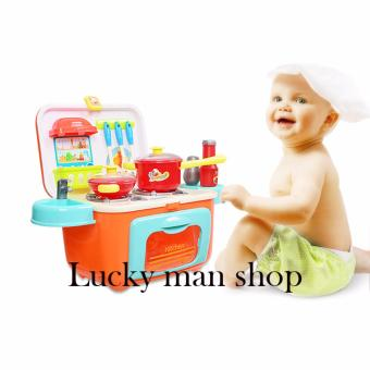 Harga BIG BOX Children DIY Beauty Kitchen Cooking Toy Role Play Toy Set Red