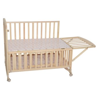 Happy Dino Compact Wooden Crib (Brown) Price Philippines
