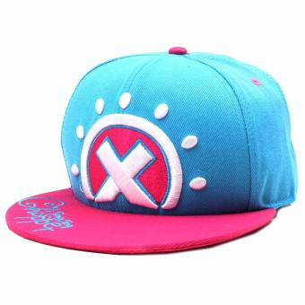 ANIME ZONE One Piece Anime Tony Tony Chopper Hat Inspired Unisex Fashionable Snapback Cosplay Cap (Blue/ Pink) Price Philippines
