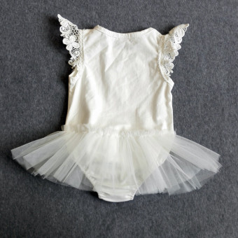 [100% COTTON]Cotton baby clothes lace leotard white Price Philippines