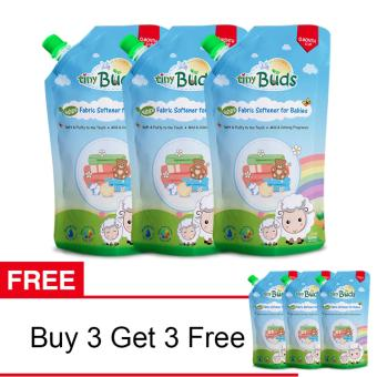 Harga SALE: Tiny Buds Fabric Softener Buy 3 Get 3 Free (500ml)