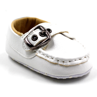 BABY STEPS Andie Leather Baby Boy Shoes Casual (White) Price Philippines