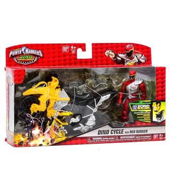 Harga Power Rangers Dino Super Charge - Dino Cycle with Red Ranger Action Figure