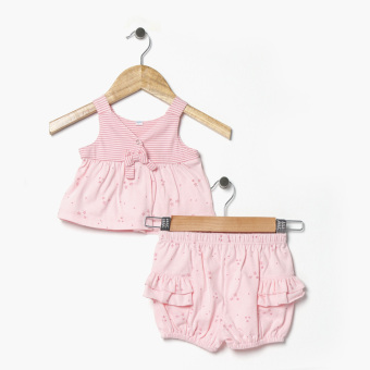 Hush Hush Girls All-Over Stars Top And Shorts Set (Pink) Price Philippines