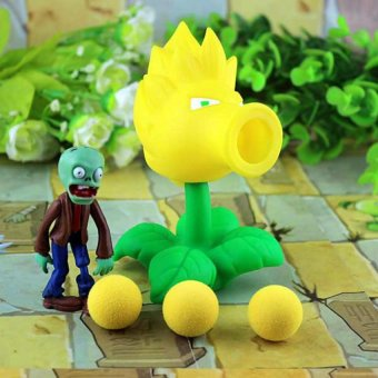 2017 PVZ Plants Vs Zombies Peashooter PVC Action Figure Model Toy Gifts Toys For Children High Quality Brinquedos, In OPP Bag - intl Price Philippines