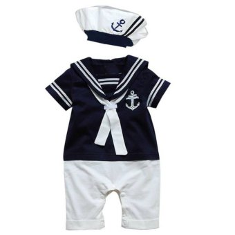 Cool Elves Nautical Sailor Romper - Blue Price Philippines