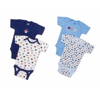 Harga Gerber 4-Pack Onesies - Balls And Numbers (3-6 Months)