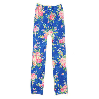 Aukey Kids Stretch Skinny Leggings Strawberry Floral 5-12 Years Price Philippines