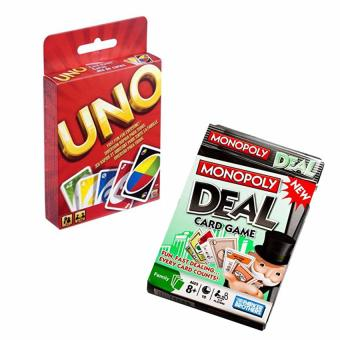 Uno Card and Monopoly Deal Card Game (pls read what's in the box) Price Philippines