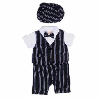 Bingo Baby Gentlemen Suit Baby Romper with Blazer and Cap Price Philippines