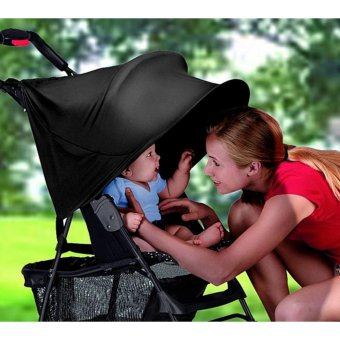 Harga Baby Stroller Rag Shade Blocks 99% UV UVB Sun Rays Cover Baby Car Awning Rain Tent Multifunctional Stroller Protection Accessory - intl