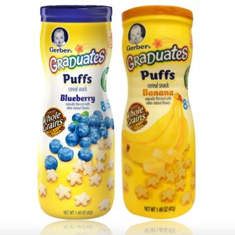 Harga Gerber Graduates Puffs Cereal Snack Pack of 2 (Banana&Blueberries)