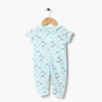 Hush Hush Boys Cars Allover Hooded Bodysuit (Blue) Price Philippines