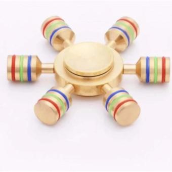 6 Axis Hand Fidget Spinner Toy Brass with a Hybrid Ceramic Bearing (Gold) Price Philippines