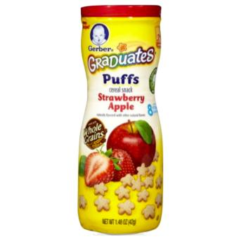 Harga Gerber Graduates Puffs Strawberry Apple, 1.48 oz (42g)