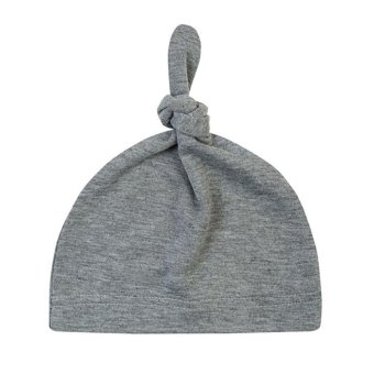 LALANG Baby Toddlers Cotton Cap Child Knotted Hat (Grey2#) - intl Price Philippines