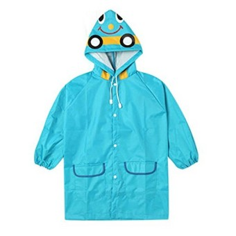 Toddler Cute Cartoon Raincoat 3-8 Years (Blue) - Intl Price Philippines