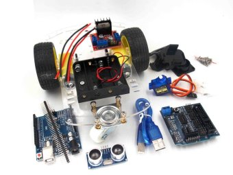 Avoidance tracking Motor Smart Robot Car Chassis Kit Speed Encoder Battery Box 2WD Ultrasonic module For Arduino kit - intl Price Philippines