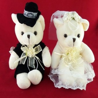 Harga The Wedding Library Teddy Bear Bride & Groom