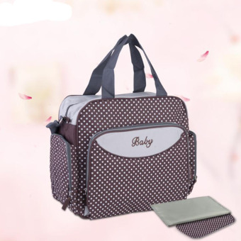 Fashion Mummy Bag Multi Function Diaper Bags (Coffee) - intl Price Philippines