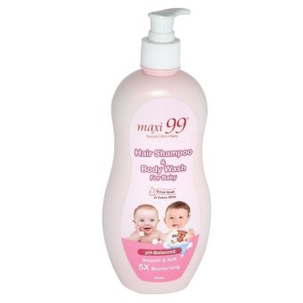 Harga Maxi 99 Hair Shampoo & Body Wash for Baby 500ml