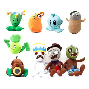 9 Pcs/Lot Cartoon animal Newest Plant Vs Zombies 2 Plush Toys Doll - intl Price Philippines