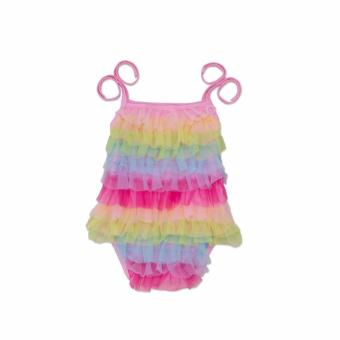 Colourful rainbow design Adjustable Dress for litter girls-1years to 2 years old(colourful) Price Philippines