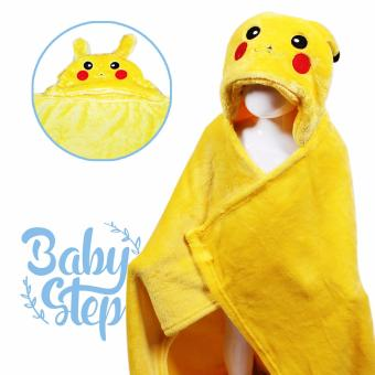 Baby Steps Pica Hooded Towel Blanket (Yellow) Price Philippines