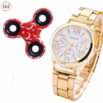 Harga E&E SY-3 Gold White with Red Moon Printed Fidget