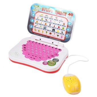 Mini Machine Computer Laptop Baby Children Educational Game Toy Kids Study Music Phone(Pink) Price Philippines